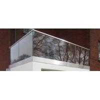 Buy cheap Lamimated Glass Panel Roof Railing Price/ Floor Mount U Channel Glass Railing product