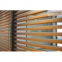 Interior / Exterior Ceramic Wall Cladding , Decorative Terracotta Baguette Louver