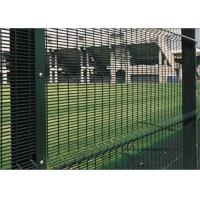 """Quality PVC Coated High Security Steel Wire Fencing Wire Fence Panel  4mm wire 3""""*1/2"""" Hole For Prison for sale"""