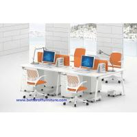 Buy cheap Modern Modular Office Workstation Table 4 Person Dividers Office Cubicle white color product