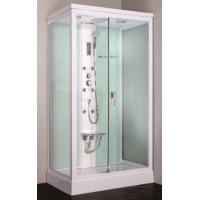 Buy cheap Cheap square framed sliding glass door steam shower cabin with seat product