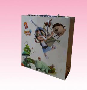 Buy cheap distributeurs polychromes recyclables promotionnels faits sur commande de sac de papier avec toute la taille de sortes product