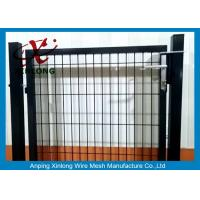 Buy cheap Black Powders Sparyed Coating Welded Wire Fence Gate With Square Post product
