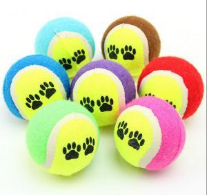 HARD DOG PUPPY PET TENNIS CHEW PLAY BALLS TOYS SHOOT THROW TOUGH FETCH NEW