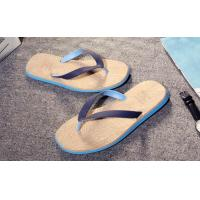 Buy cheap Wood Grain Fashion Flip Flops Slip Resistance Mens Thong Slippers Multi Colored product