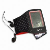 Buy cheap Armband for Video MP3 Player, Various Colors are Available, with Volume Control, Made of Neoprene product