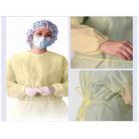 Quality PP nonwoven medical gowns , green disposable isolation surgical gown for for sale