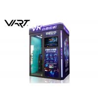 China Coin Operated 9D Virtual Reality Simulator VR Arcade Box Easy Management on sale