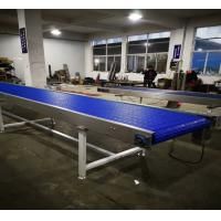 Buy cheap Blue Plastic Auto Conveyor Systems Adjustable Speed In Logistics And Cosmetics Industry product
