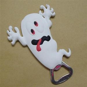 China custom  white lovely frog shape metal bottle opener with PVC coats on sale