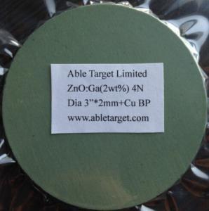 Buy cheap ZnO/Ga2O3,GZO sputtering target product