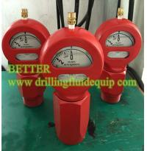 China BETTER Type D Mud Pressure Gauge Equal OTECO Model 7 End Connection 2LPT/NPT Standard Walt Water Sour Gas on sale