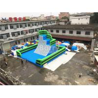 Buy cheap Green Outdoor Inflatable Climbing Wall Obstacle Course With Bottom Mat from wholesalers