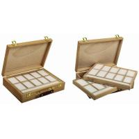 Buy cheap Wooden Art Storage Box With Tray , Rectangular Paint Storage Containers 35.5 X 26.5 X 8.6cm product