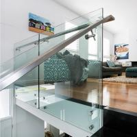 Buy cheap 304 Stainless Steel Standoff Tempered Glass Balcony Railing Design product