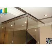 China Folding Interior Demountable Glass Door Partition on sale