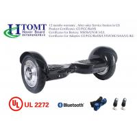 China 10 Inch Powerful 2 Wheel Hoverboard With 700W Motors Pneumatic Tire Carbon Black on sale