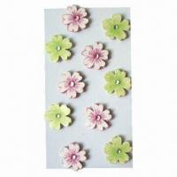 Buy cheap 3D Handmade Craft Paper Stickers with Self Adhesive, Decorating Scrapbook, Cards from wholesalers