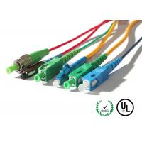 Buy cheap SM OS2 & MM OM3 OFNR & OFNP Corning Cable Fiber Optic Patch Cord in SC / LC / FC / ST connectors product