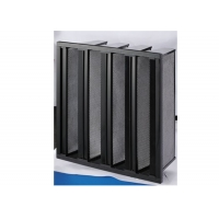 Buy cheap High Capacity V Bank Filter Activate Carbon Filter Remove VOCs CO2 product