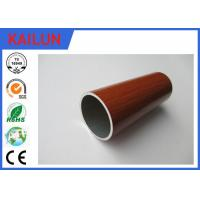 Buy cheap Home Decoration 30 mm Extruded Aluminium Tube With Wood Grain Painted Treatment product