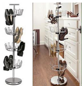 Buy cheap 回転の靴の棚の木 4 層の販売 product