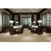 Buy cheap Jewelry display counters and wall Cabinets made by Walnut wood with Glass cube in LED light product