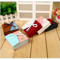 Buy cheap Custom handmade small luxury jewelry paper gift box for bracelet with ribbon product