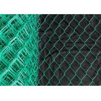 China Diamond Shape Green Coated Chain Link Fence 50mm To 70mm Opening Size on sale
