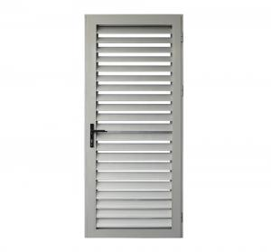 Buy cheap White Color Surface Glass Louver Doors , Aluminium Frame French Doors ISO14001 product