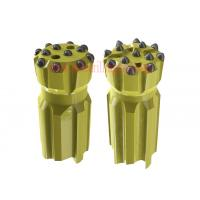 China Retractable Rock Threaded Button Bits Carbon Steel ,Golden Dth Button Bits on sale
