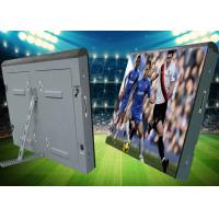 Buy cheap iron soft mask Cabinet  advertising Outdoor waterproof P10 football stadium perimeter led screen product