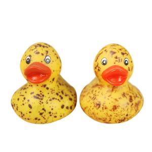 Kids Funny Bath Toy Mini Rubber Ducks Customized Yellow Vinyl Material