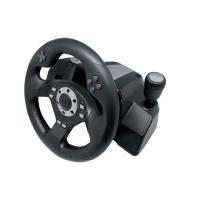 Buy cheap Black Wired USB Force Feedback Steering Wheel And Pedals For Computer from wholesalers