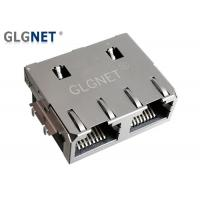 Buy cheap 1x2 Offset Rj45 Through Hole Connector Jack Tab Up 1G Without LED Supports PIP product