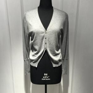 Chaqueta de punto blanca para mujer de la suavidad perfecta con los bolsillos BGAX013