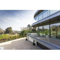 Buy cheap Frameless Aluminum Glass Channel Railings Balcony Balustrade NZS product