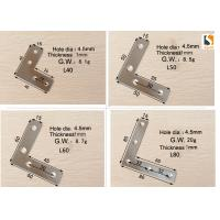 Buy cheap Silver Color Sign Making Tools , L Shape Aluminum Profile Interior Corner Connector Joint Bracket product