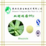 Diacerein natural de alta qualidade CAS 13739-02-1 com preço de fábrica 98% (pela HPLC) Diacerein