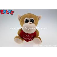 Buy cheap Valentines Day Gifts Big Eyes Toy Series Brown Monkey Animal With Heart Pillow product