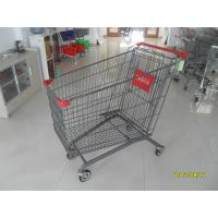 China Coloful Coating  / Zinc Plating 270L Grocery Store Shopping Cart  For Supermarket wholesale
