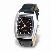 Buy cheap Quartz Vibrating Alarm Watch with Durable Leather Watchband and Adjustable Time Setting product