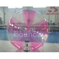 Quality 0.7mm TPU Inflatable Water Walking Ball With Soft Handle For Water Games for sale