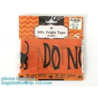 Buy cheap Caution Tape Halloween Red and White Banner Tape,EPI manufacturer in low price Halloween Caution Tape bagplastics packag product