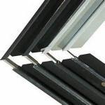 Solar Frames Aluminum Extrusions , Silver Anodized Aluminium Solar Mounting