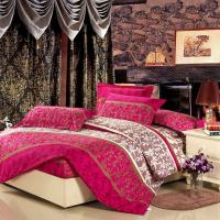 Buy cheap Colorful Full Size 5 Piece Polyester Bed Set Embroidered Printed Plain Dyed product