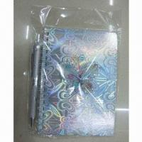 Buy cheap Set of Spiral Notebook and Ball Pen, Cover with 3D Stickers, Unique and Useful  product