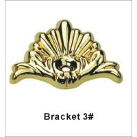 Buy cheap Custom Made Gold Coffin Bracket For Casket Accessories Standard Size product