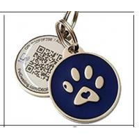 China Personalized Custom RFID Tags Metal Id QR Code Pet Tag For Dogs / Cats, colorful dog tag on sale