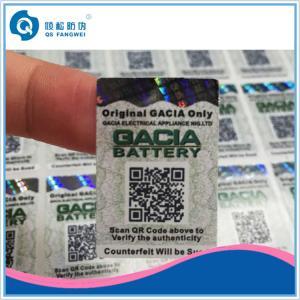 Quality Impressão da etiqueta do código de QR, etiqueta da etiqueta da segurança, risco esparadrapo da segurança fora das etiquetas for sale